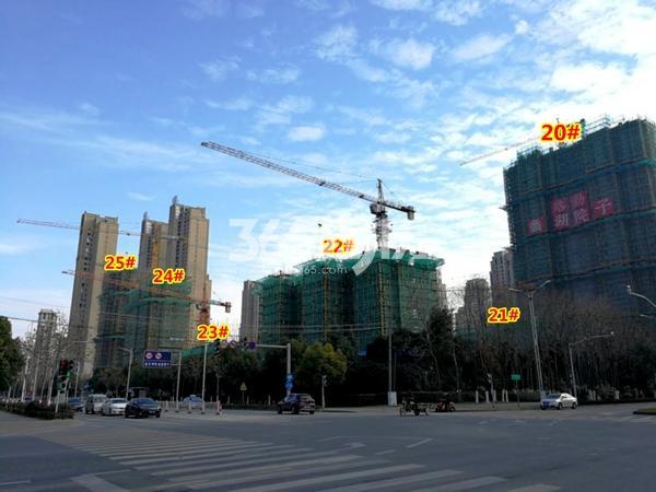 路劲蠡湖院子20-25#楼工程进度实景图(2018.1摄)