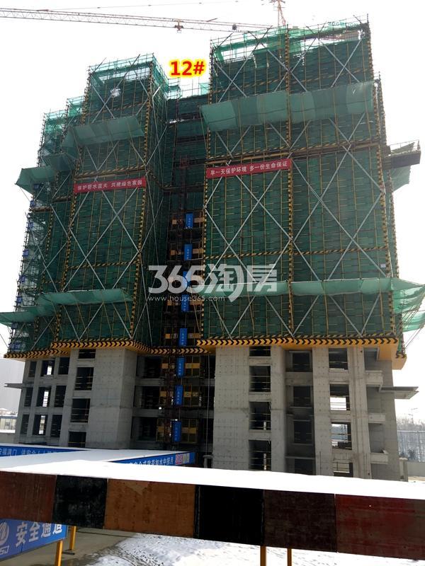 中锐星公元12#楼工程实景(2018.1摄)