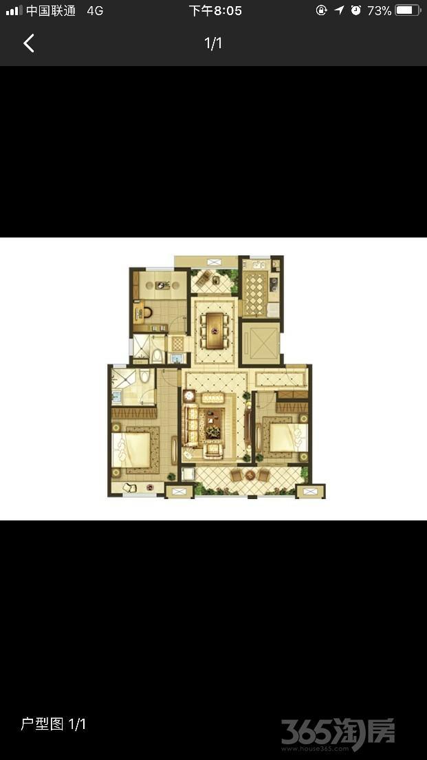 东部美的城3室2厅2卫115.83平米2018年产权房毛坯