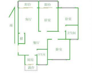 梁溪区锦绣花园3室2厅2卫170平米整租精装