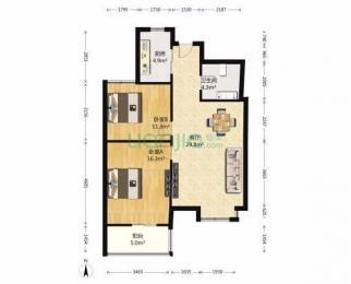 东方银座2室2厅1卫125万元95.5平方