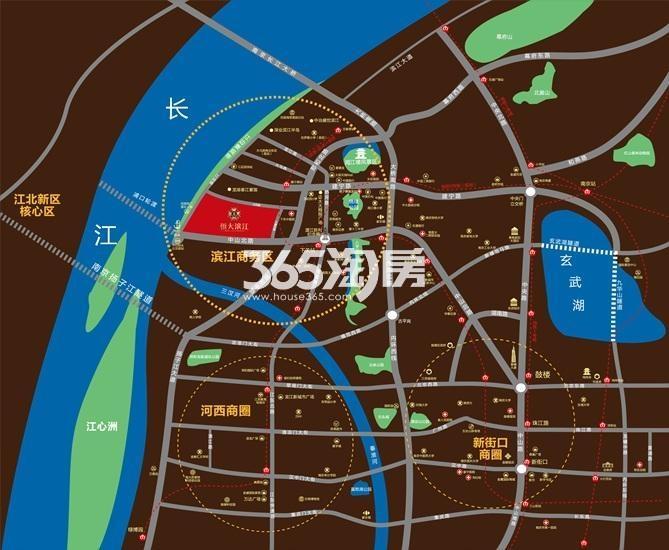 恒大滨江交通图