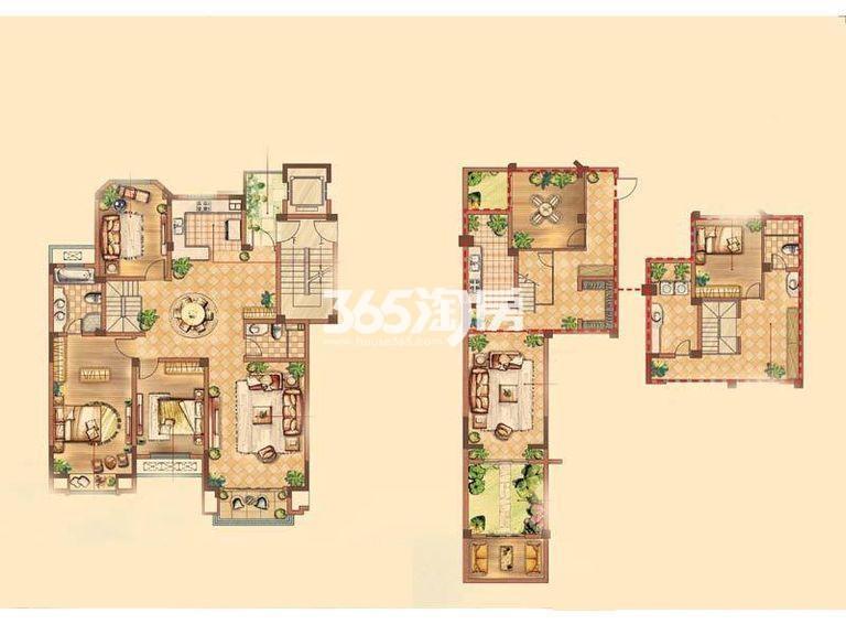 康诗丹郡251平低密度多层(带地下室)户型图