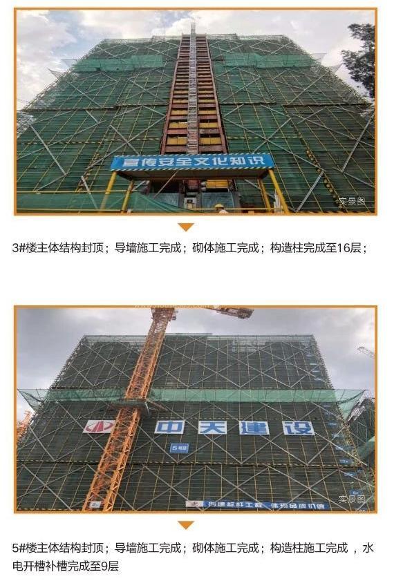 中天万科启宸7月工程进展