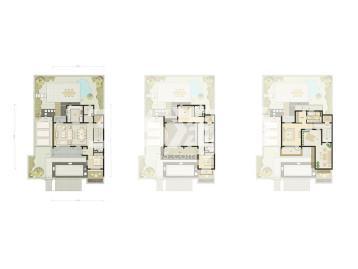 四室两厅四卫217㎡户型图