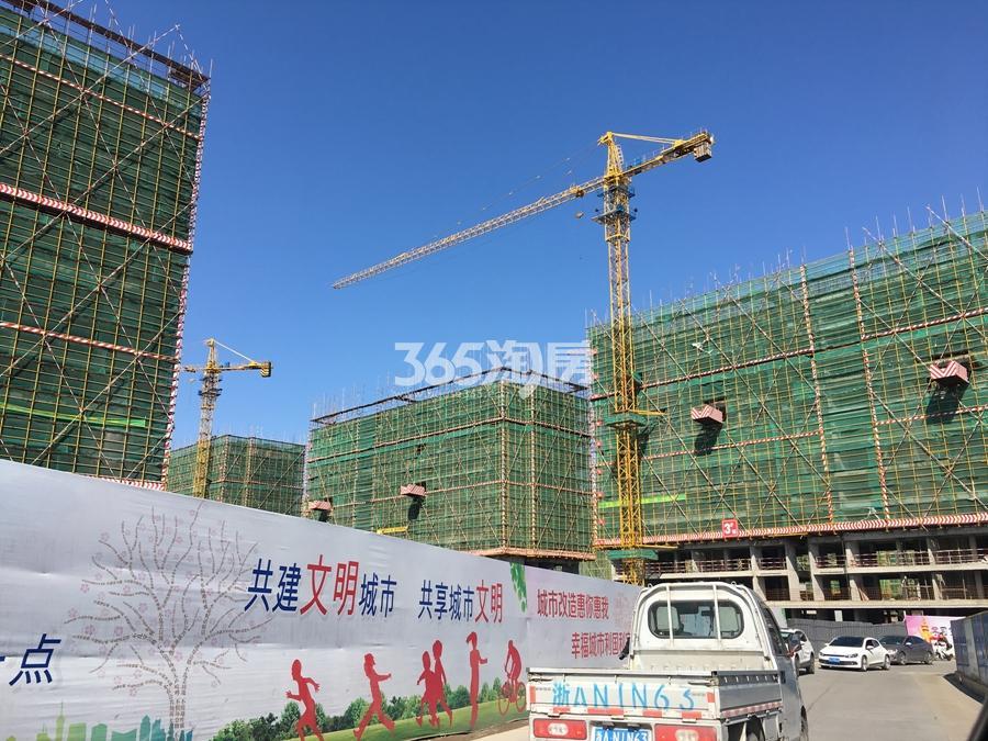 苕溪壹号高层施工实景图 2018年2月摄