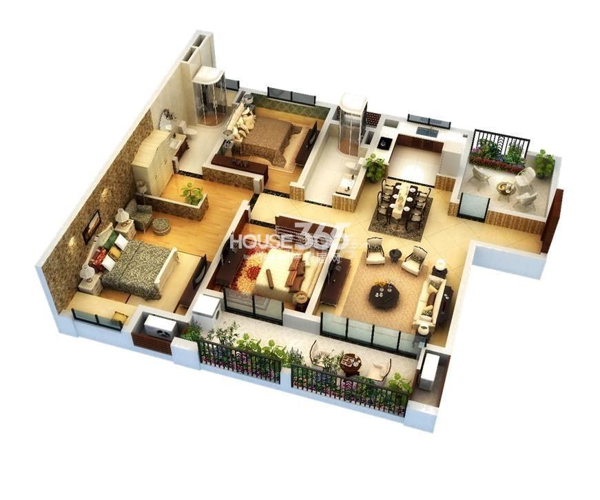A3 3+1房2室2厅