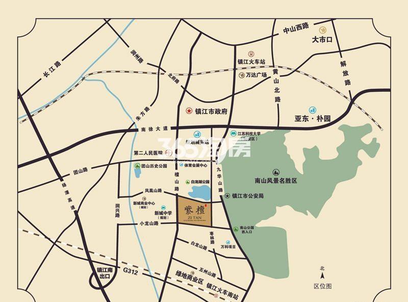 亚东紫檀交通图