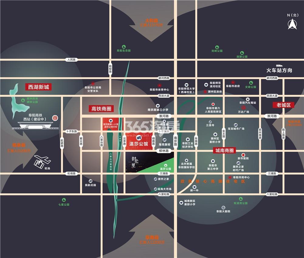 一涵温莎公馆交通图