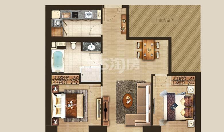 丰隆城市中心T3-40年产权公寓D