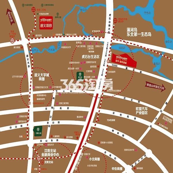 首开国风润城交通图