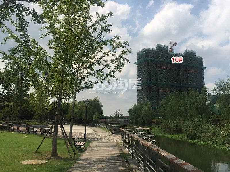 中锐星公元10#楼工程进度实景(2018.8摄)