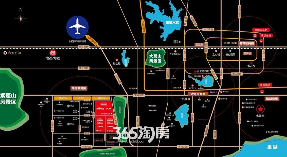华南城紫荆名都交通图