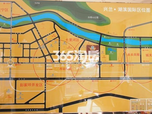 兴兰湖滨国际交通图