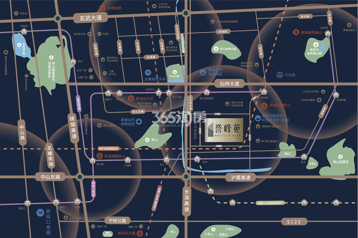 誉峰苑交通图