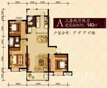 工大花园3室2厅2卫140平米毛坯两梯两户产权房2019年建