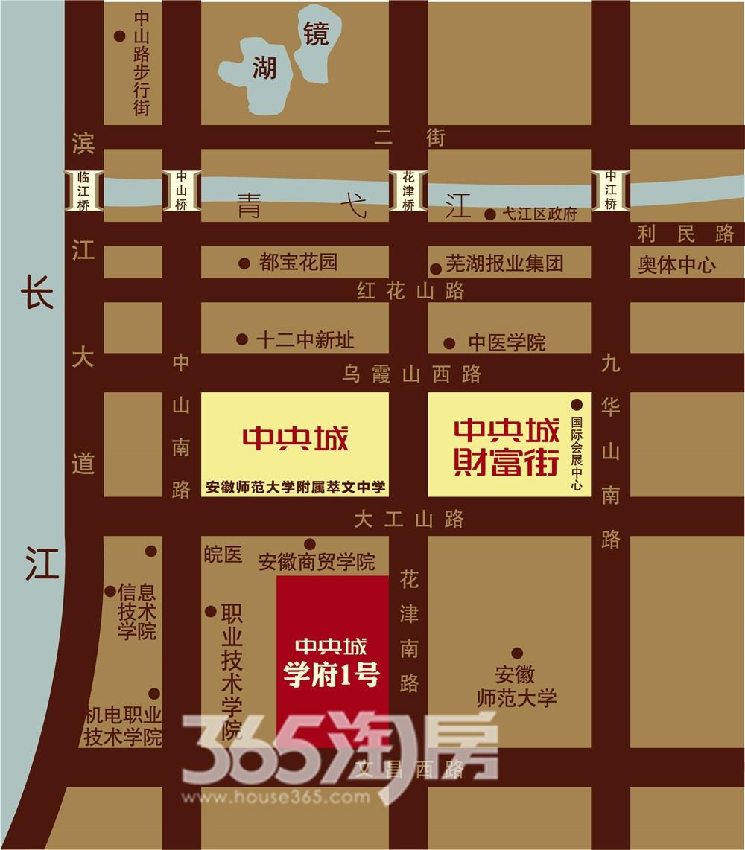 中央城财富街交通图