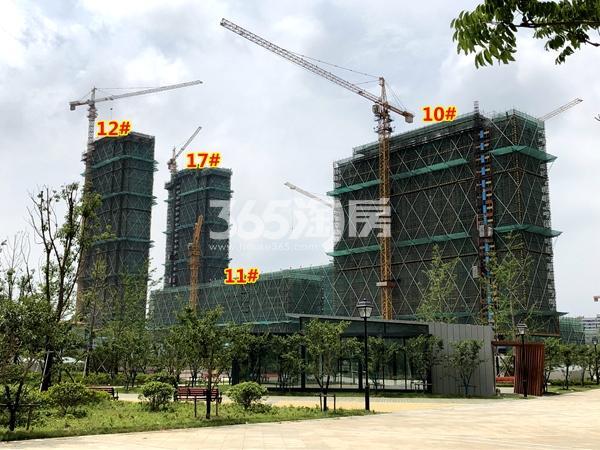 中锐星公元10#、11#、12#、17#楼工程进度实景(2018.6摄)