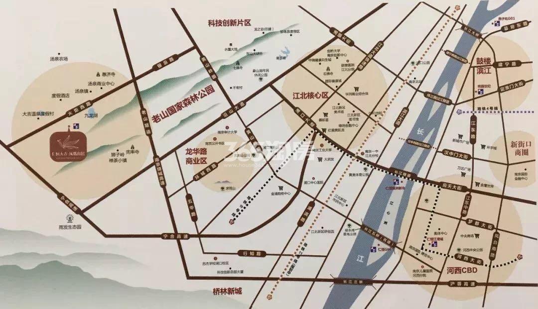 仁恒凤凰山居交通图