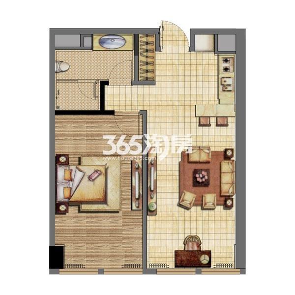 无锡恒大财富中心公寓A1-1楼户型图