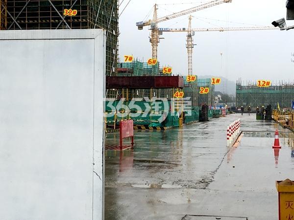 新力帝泊湾1-7#、12#、32#楼工程进度实景(2018.1摄)