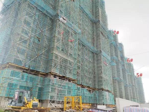 信德悦城8月5#6#7#工程进度图(2018.8摄)