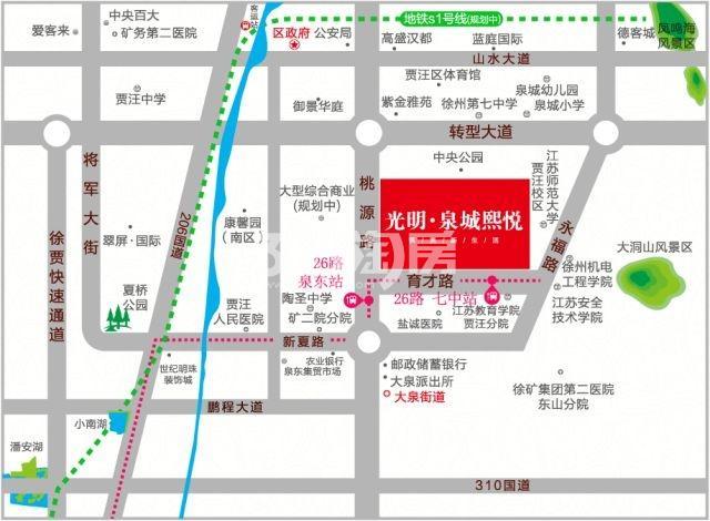 光明泉城熙悦交通图