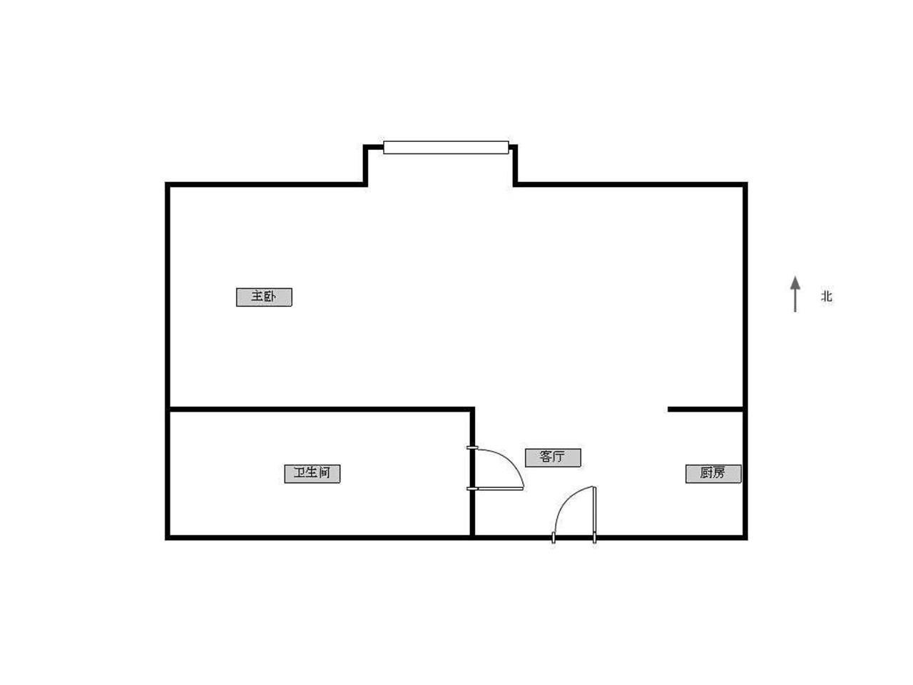 秦淮区夫子庙京隆国际公寓1室1厅户型图