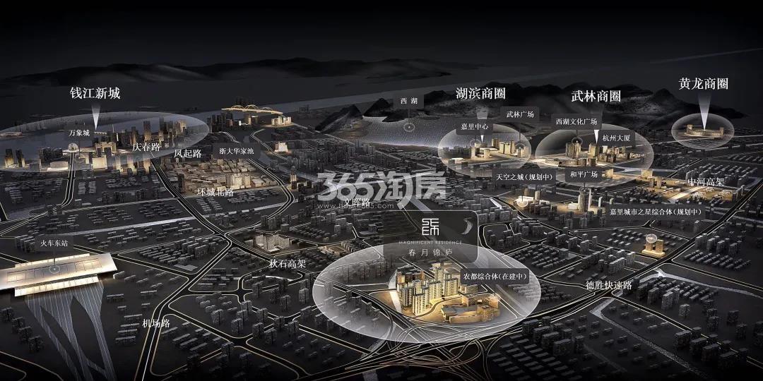 绿城春月锦庐交通图