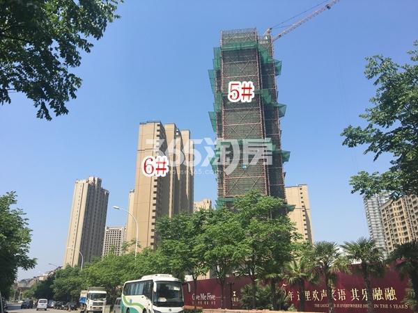 九龙仓碧玺高层5#、6#楼实景图(2018.5 摄)