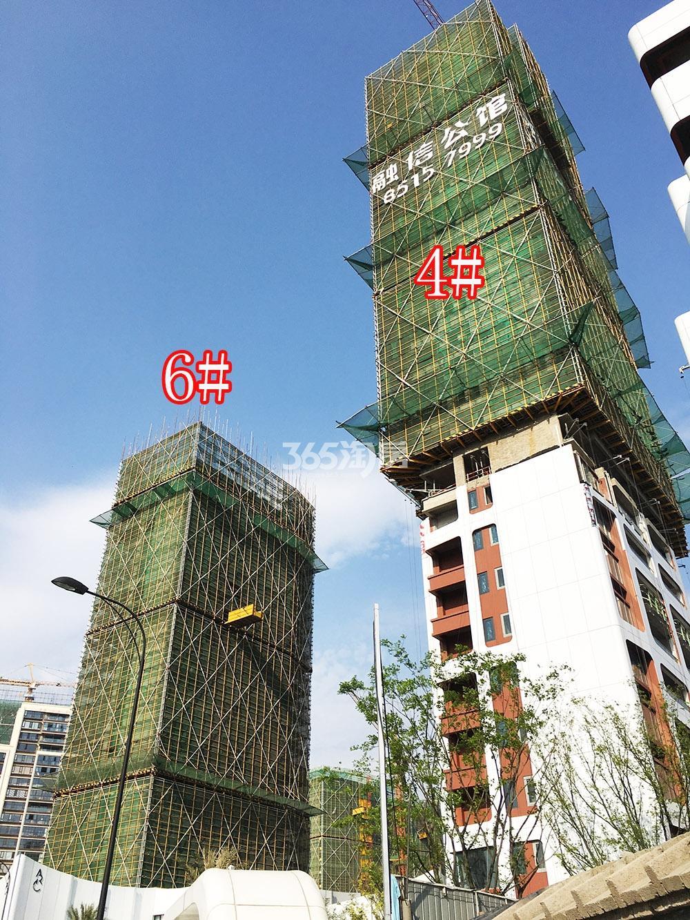 2018年4月初融信公馆ARC项目4、6号楼(地名幢号)实景