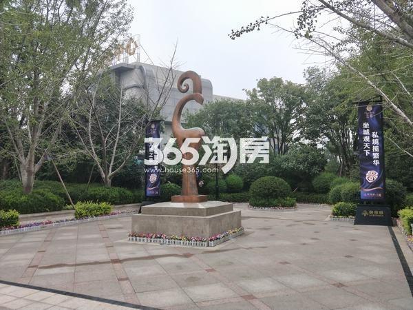 御锦城售楼部周边绿化实景(2017.10.10)