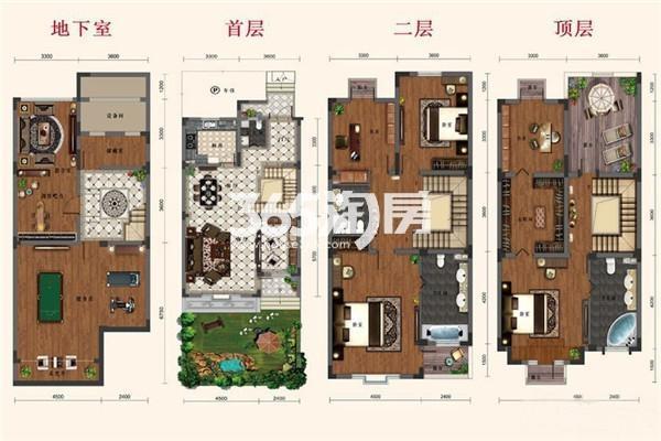 别墅B1户型 5室2厅1厨3卫