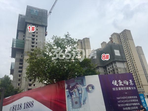 世茂时光里1#、8#楼工程实景图(2018.8 摄)