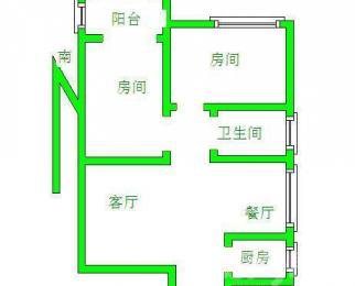 火车站南广场前东方时代大厦2室2厅1卫整租