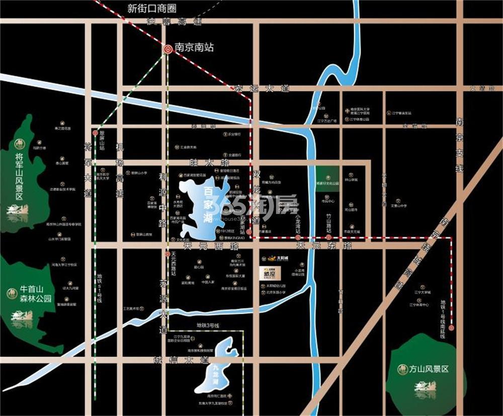 21世纪太阳城银座交通图