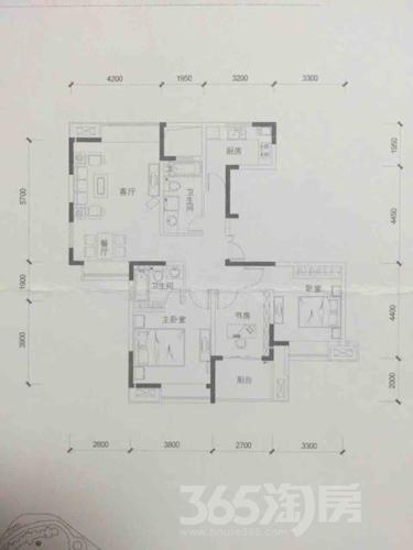 名城世家3室2厅2卫116.83平米毛坯产权房2011年建