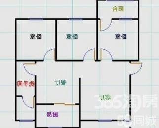 公路技校宿舍3室2厅1卫110平方产权房简装