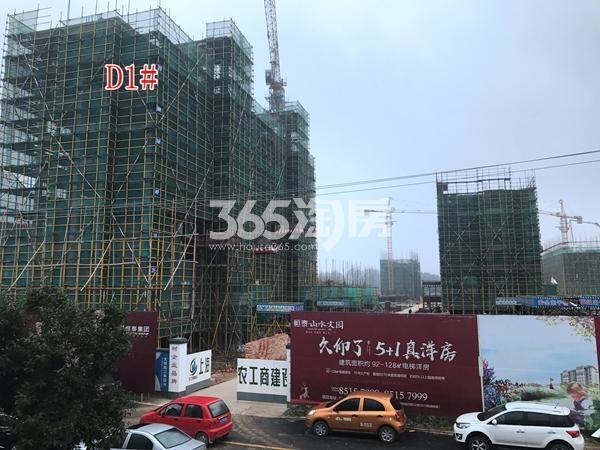 恒泰山水文园工地D1#楼工程进度实景图(10.10)