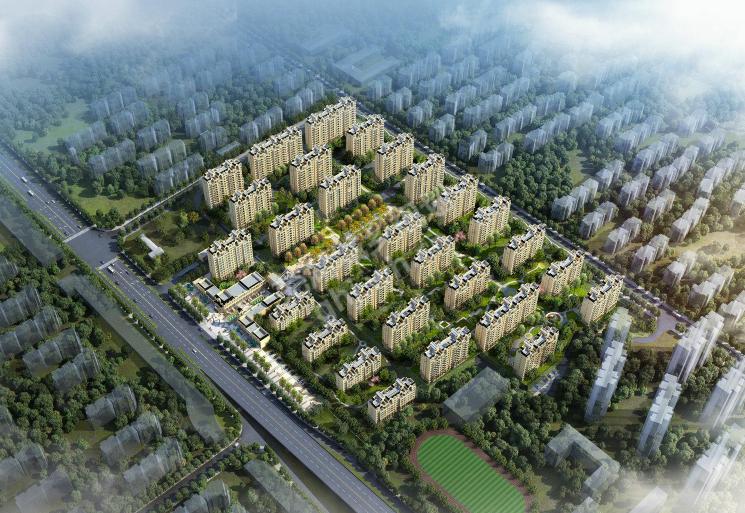 华强江城九里鸟瞰图(规划)
