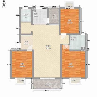 昕源佳苑3室2厅2卫117平米毛坯产权房2011年建