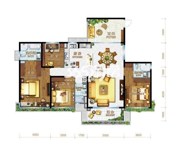 碧桂园森林城市Y223A系列户型图