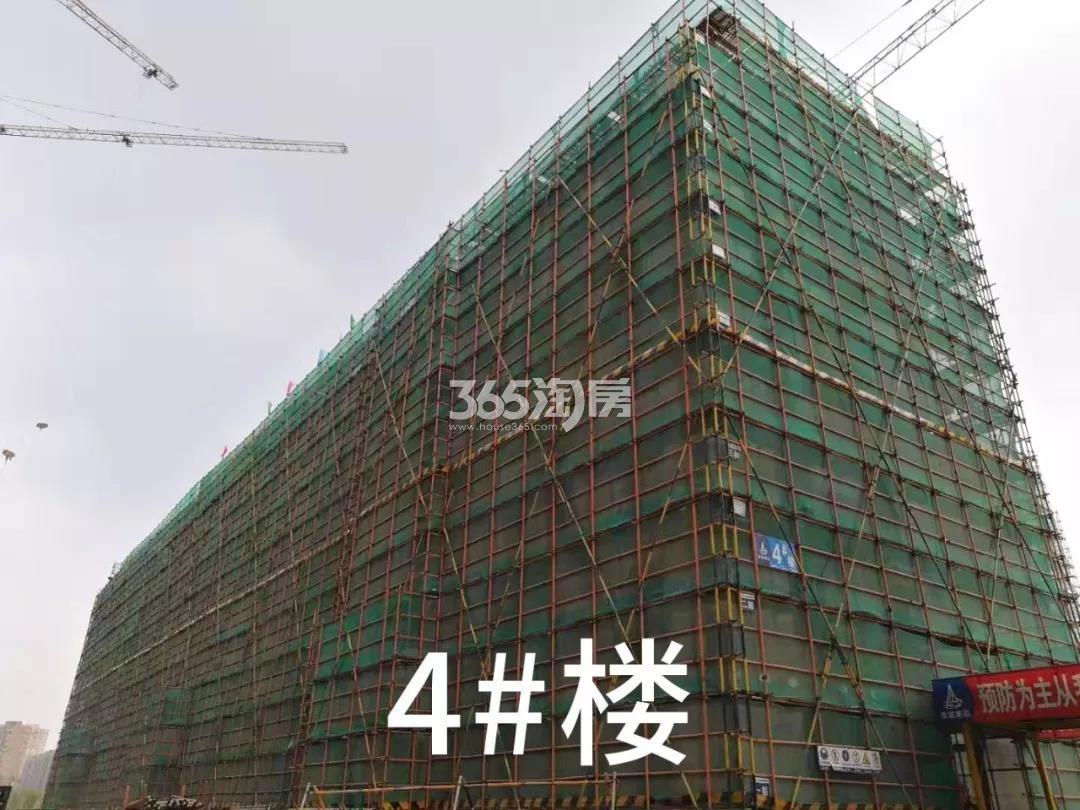 绿都云和湖项目4号楼施工进程(2019.8)