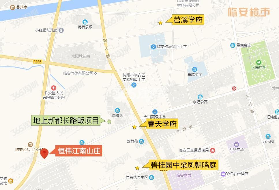 蓝城恒伟江南山庄交通图