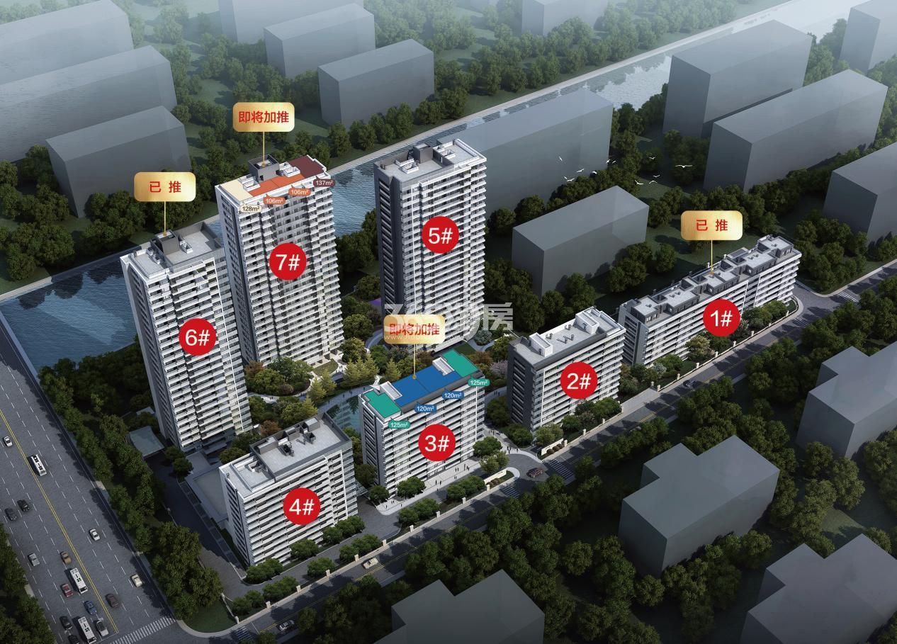 滨江集团中国铁建古翠蓝庭鸟瞰图