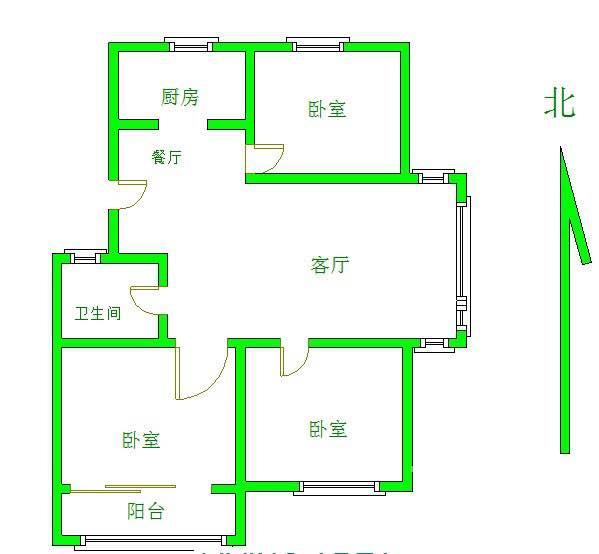 腾达雅苑3室2厅1卫99平方产权房精装
