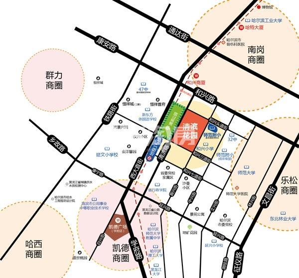 清滨花园交通图