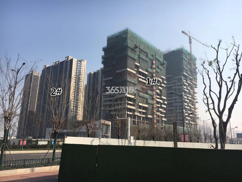 明发财富中心1、2号楼实景图(12.14)