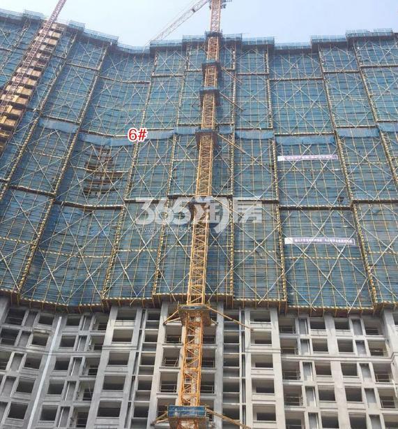 中国铁建西湖国际城6号楼施工进程(2018.8)