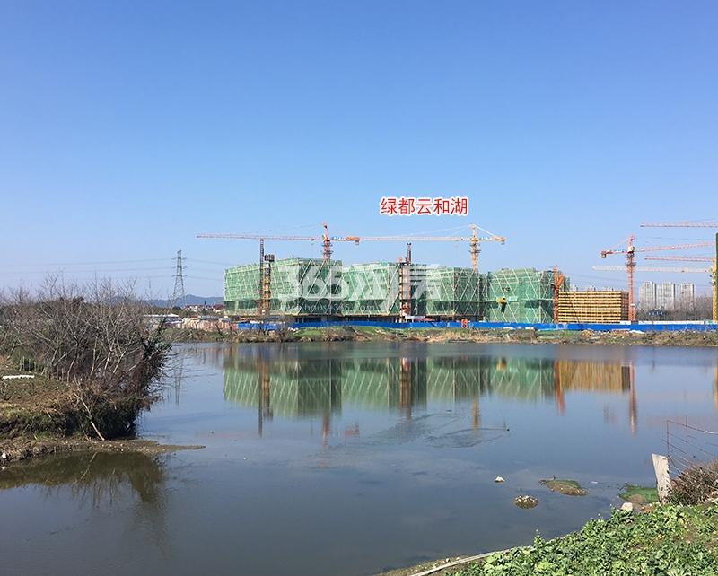 绿都云和湖项目整体施工进程图(2018.2)
